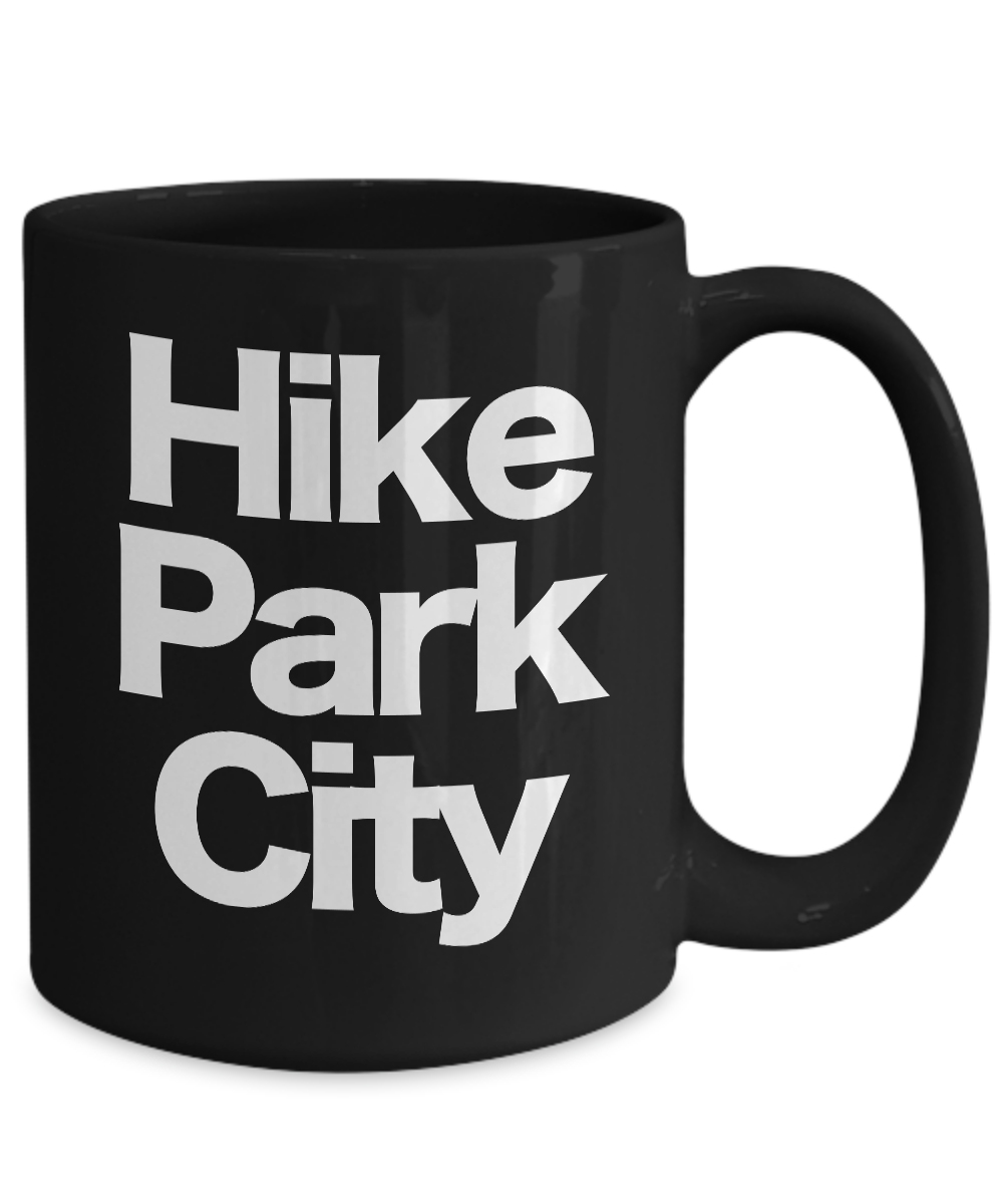 miniature 5 - Hike Park City Mug Black Coffee Cup Funny Gift for Skier Patrol, Bunny, Bum Utah