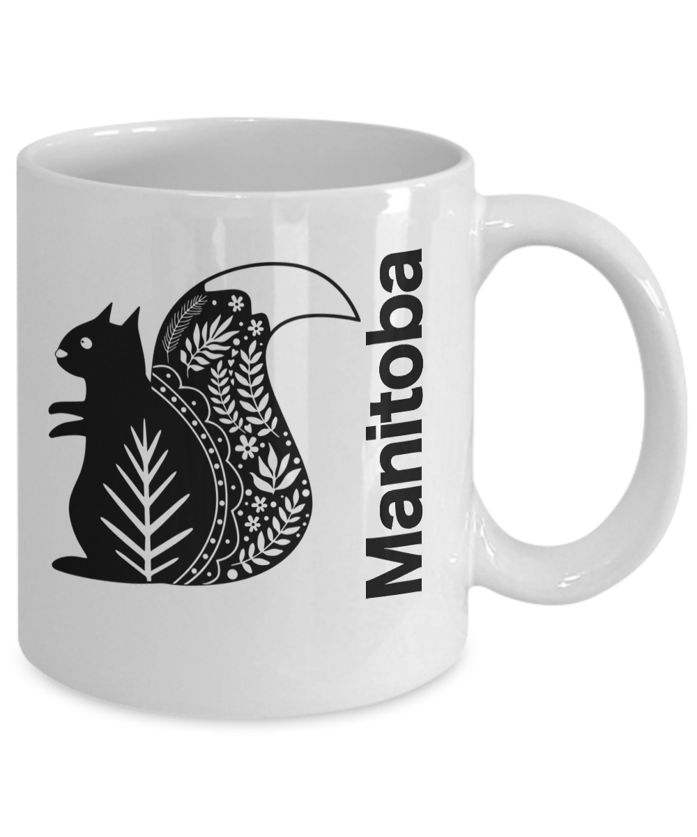 Manitoba-Mug-White-Coffee-Cup-Gift-for-Canadian-Province-Travel-Nordic-Squirrel miniature 3