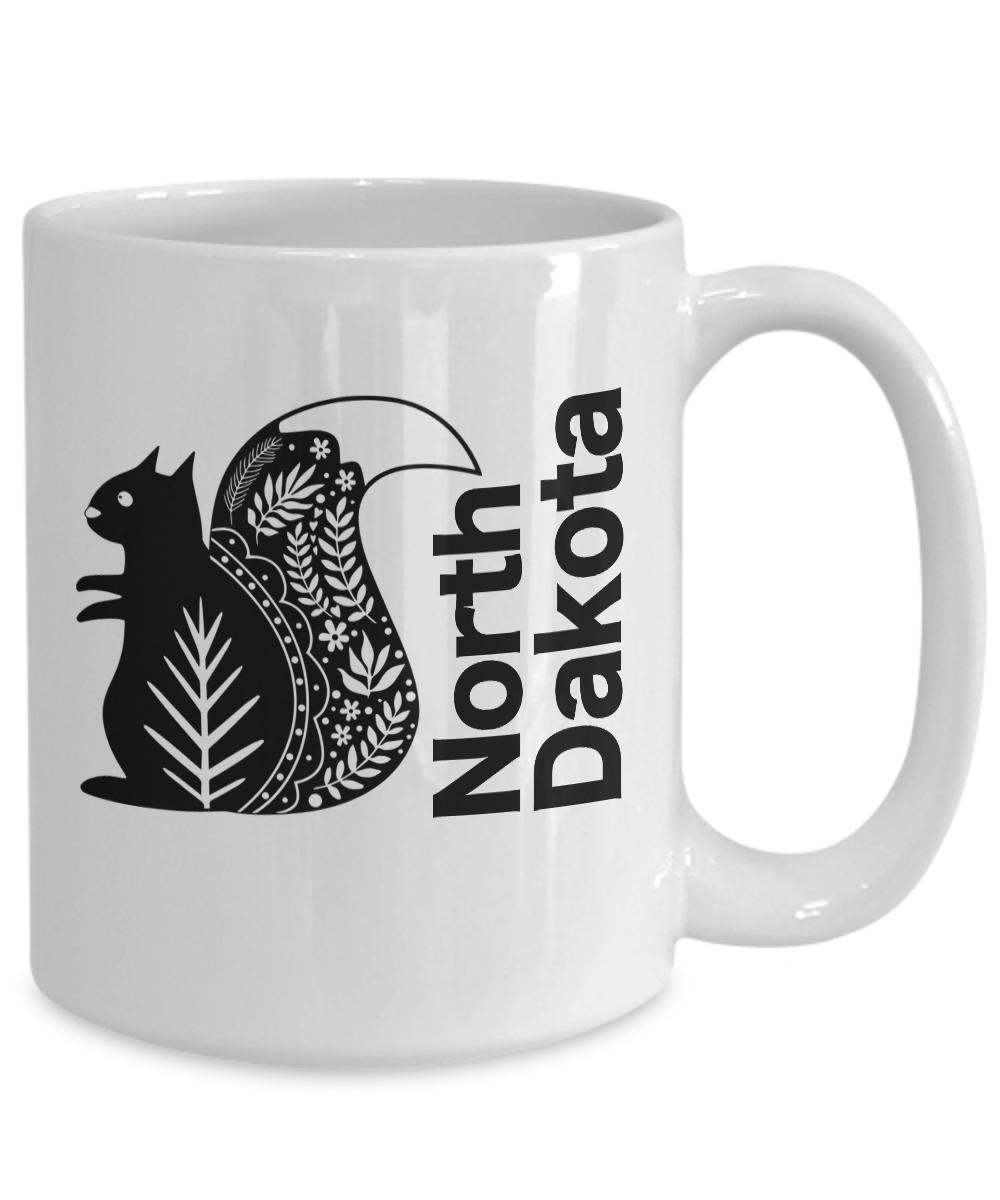 North-Dakota-Mug-White-Coffee-Cup-Gift-for-Great-Plains-Prairie-Grasses-Bad-Land miniature 5