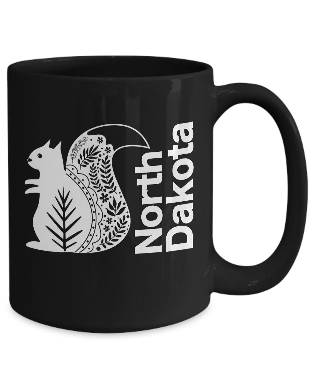 North-Dakota-Mug-Black-Coffee-Cup-Gift-for-Great-Plains-Prairie-Grasses-Bad-Land miniature 5