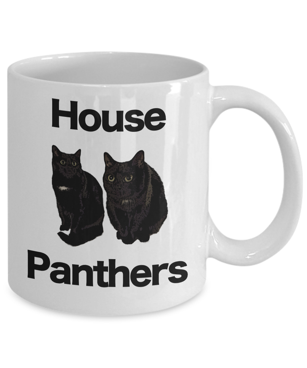 miniature 3 - Black-Cat-Mug-White-Coffee-Cup-Funny-Gift-for-House-Panthers-Owners-Lover-Rescue