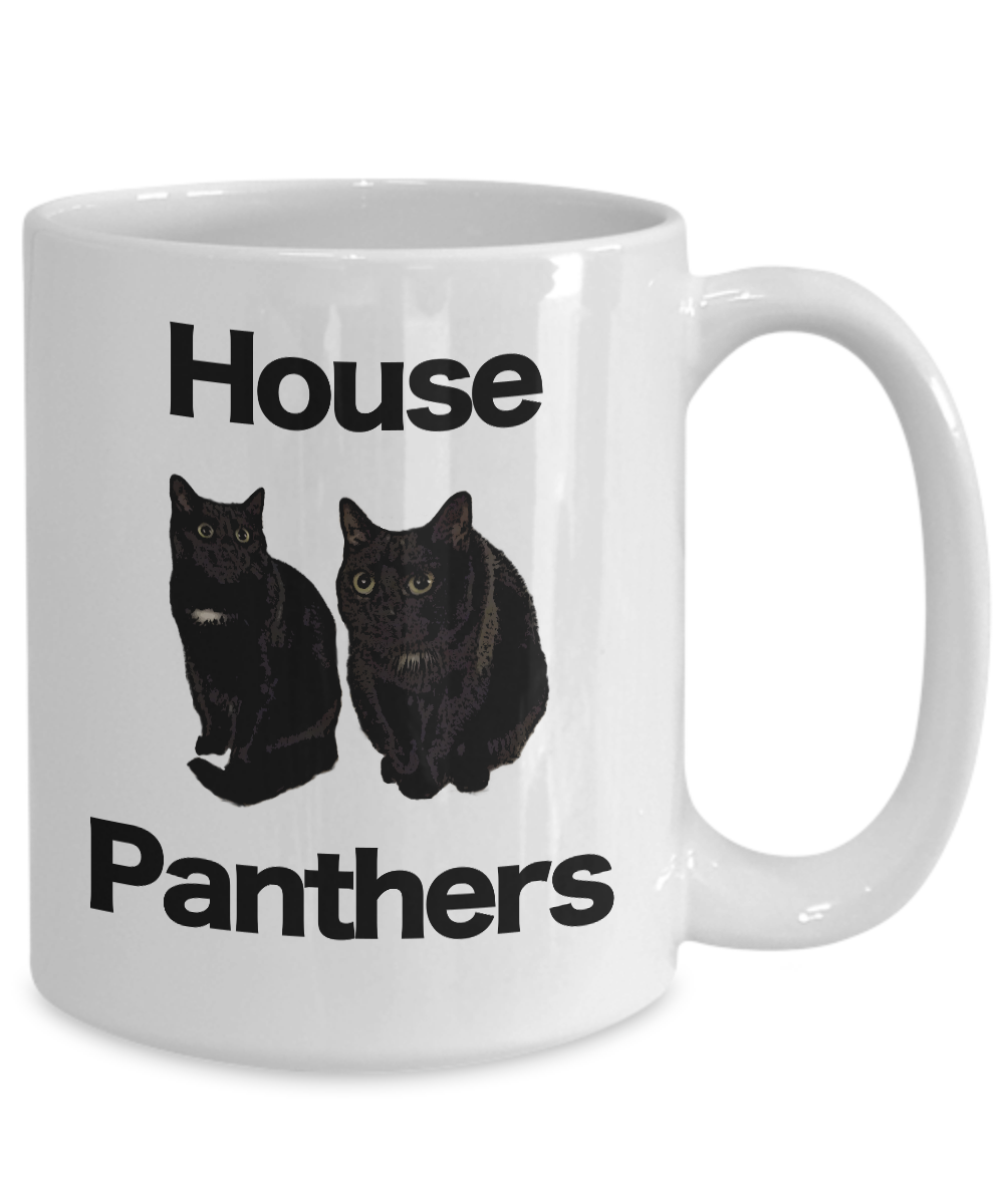 miniature 5 - Black-Cat-Mug-White-Coffee-Cup-Funny-Gift-for-House-Panthers-Owners-Lover-Rescue