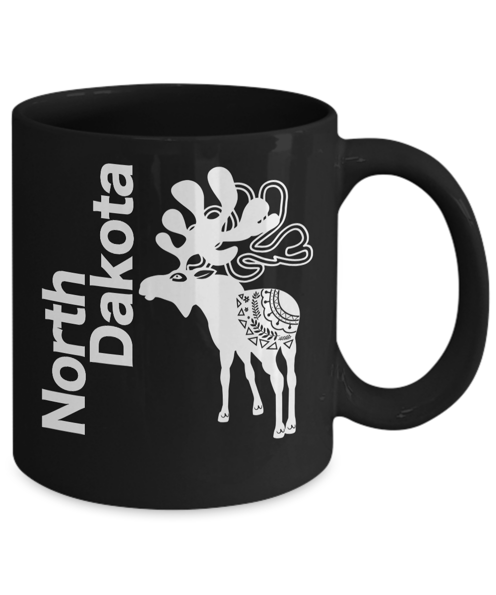 North-Dakota-Mug-Black-Coffee-Cup-Gift-for-Great-Plains-Prairie-Grasses-Bad-Land miniature 3