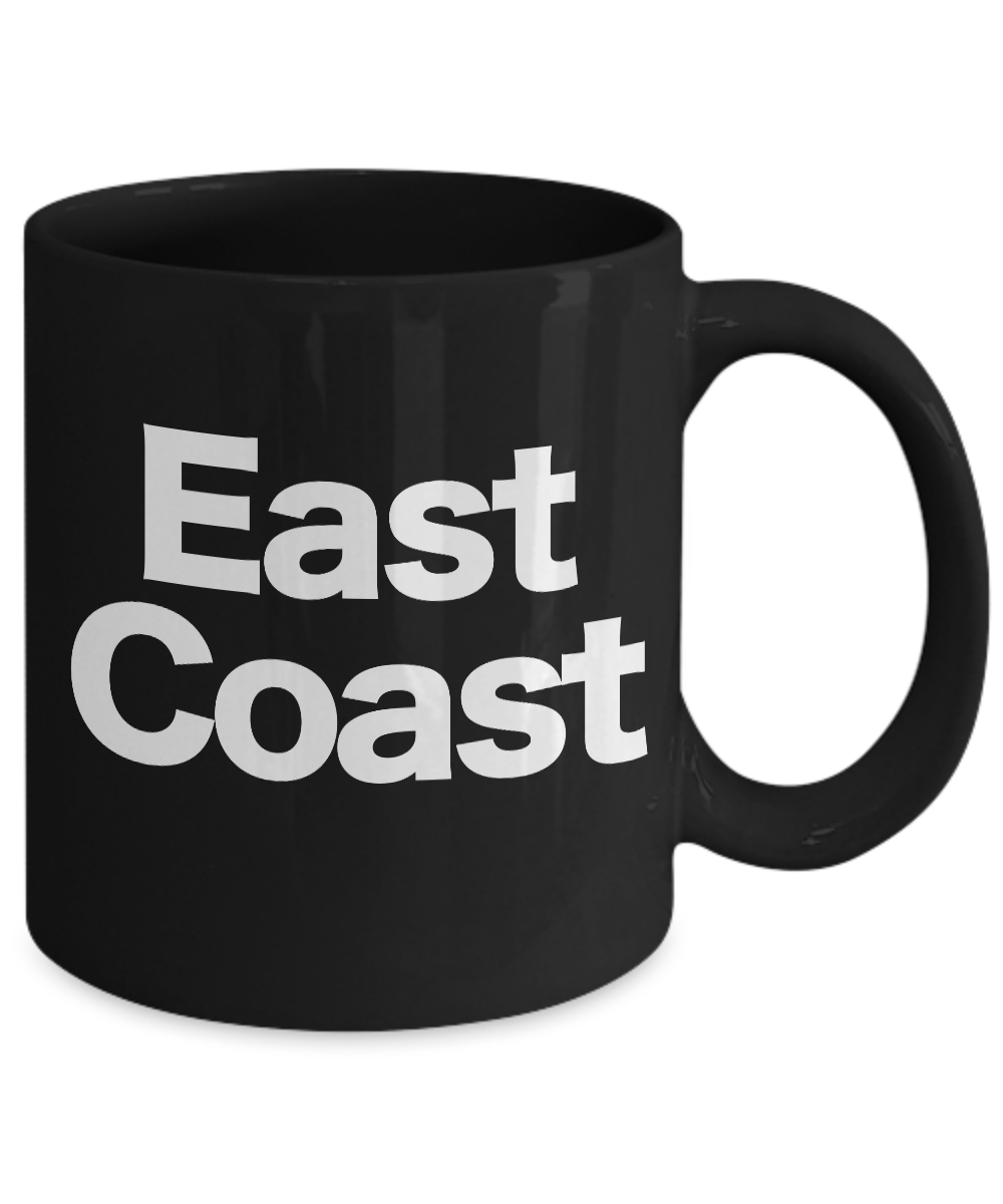 miniature 3 - East Coast Mug Black Coffee Cup Funny Gift for New York Girl Philly Proud North