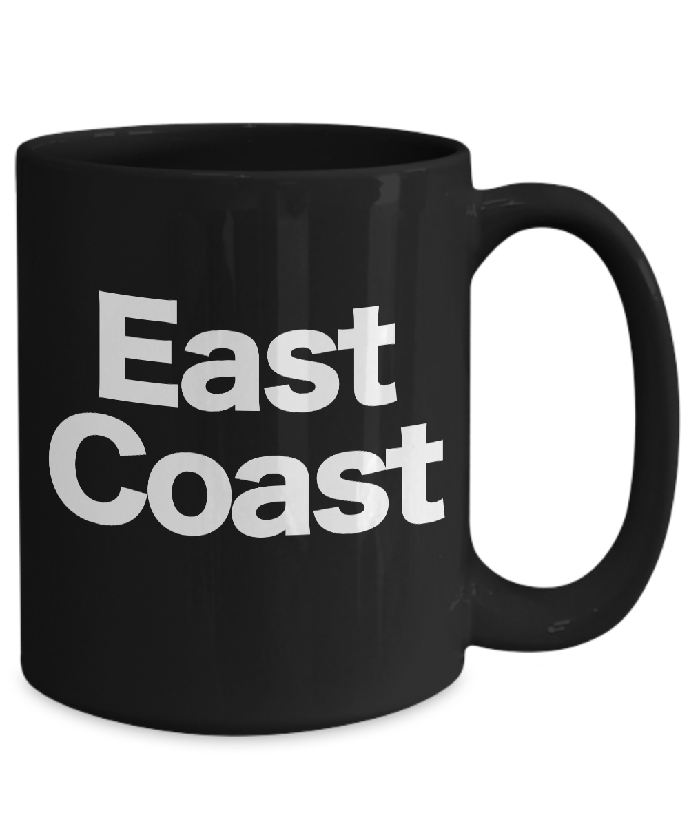 miniature 5 - East Coast Mug Black Coffee Cup Funny Gift for New York Girl Philly Proud North