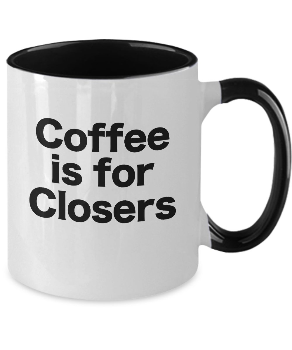 miniature 3 - Coffee-is-for-Closers-Mug-Black-Two-Tone-Cup-Funny-Gift-Realtors-Brokers-Traders