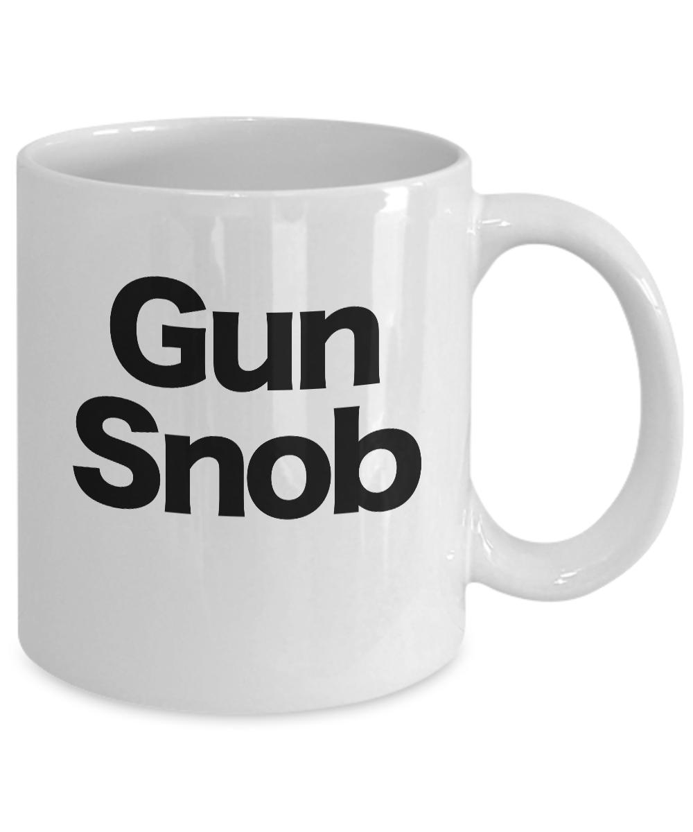miniature 3 - Gun-Snob-Mug-White-Coffee-Cup-Funny-Gift-for-Smith-Sharp-Shooter-Enthusiast-Hand