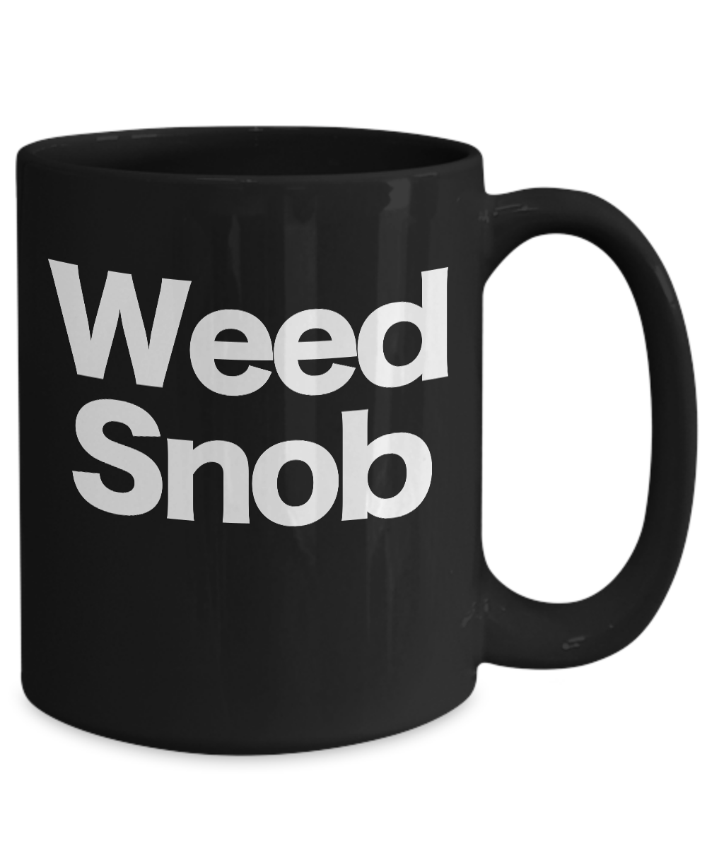 miniature 5 - Weed-Mug-Black-Coffee-Cup-Funny-Gift-Pot-Leaf-Smoking-Snob-Connoisseur-Gourmet