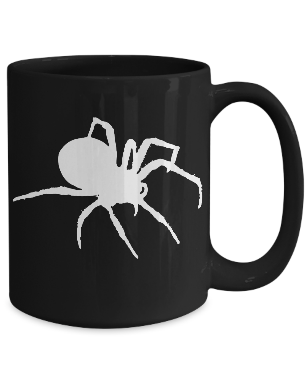 Spider-Mug-Black-Coffee-Cup-Funny-Gift-for-Creepy-Halloween-Sense-Arachnology miniature 5