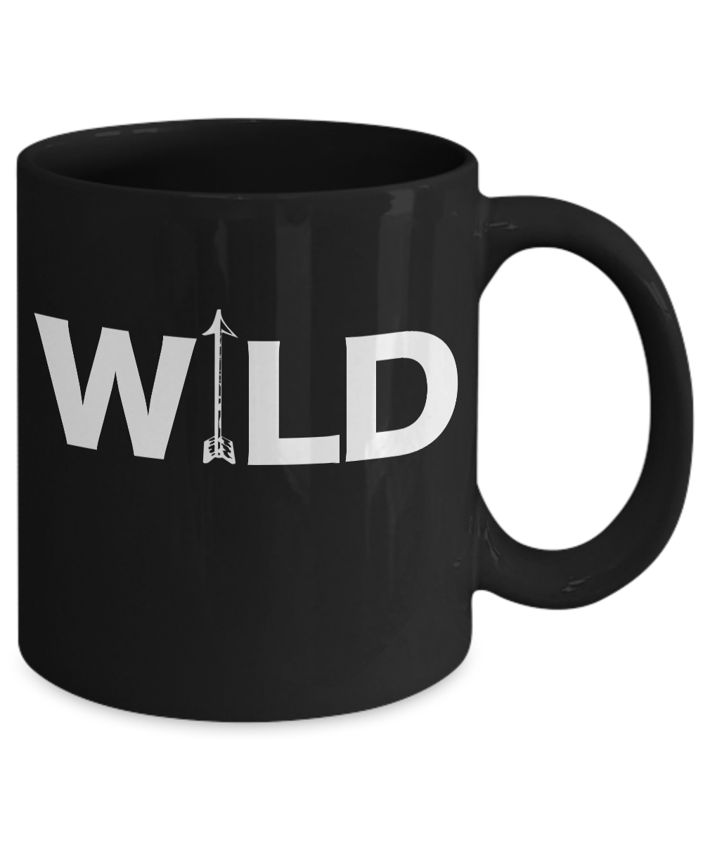 Archery-Mug-Black-Coffee-Cup-Funny-Gift-for-Wild-Long-Cross-Bow-Arrow-Hunting miniature 3