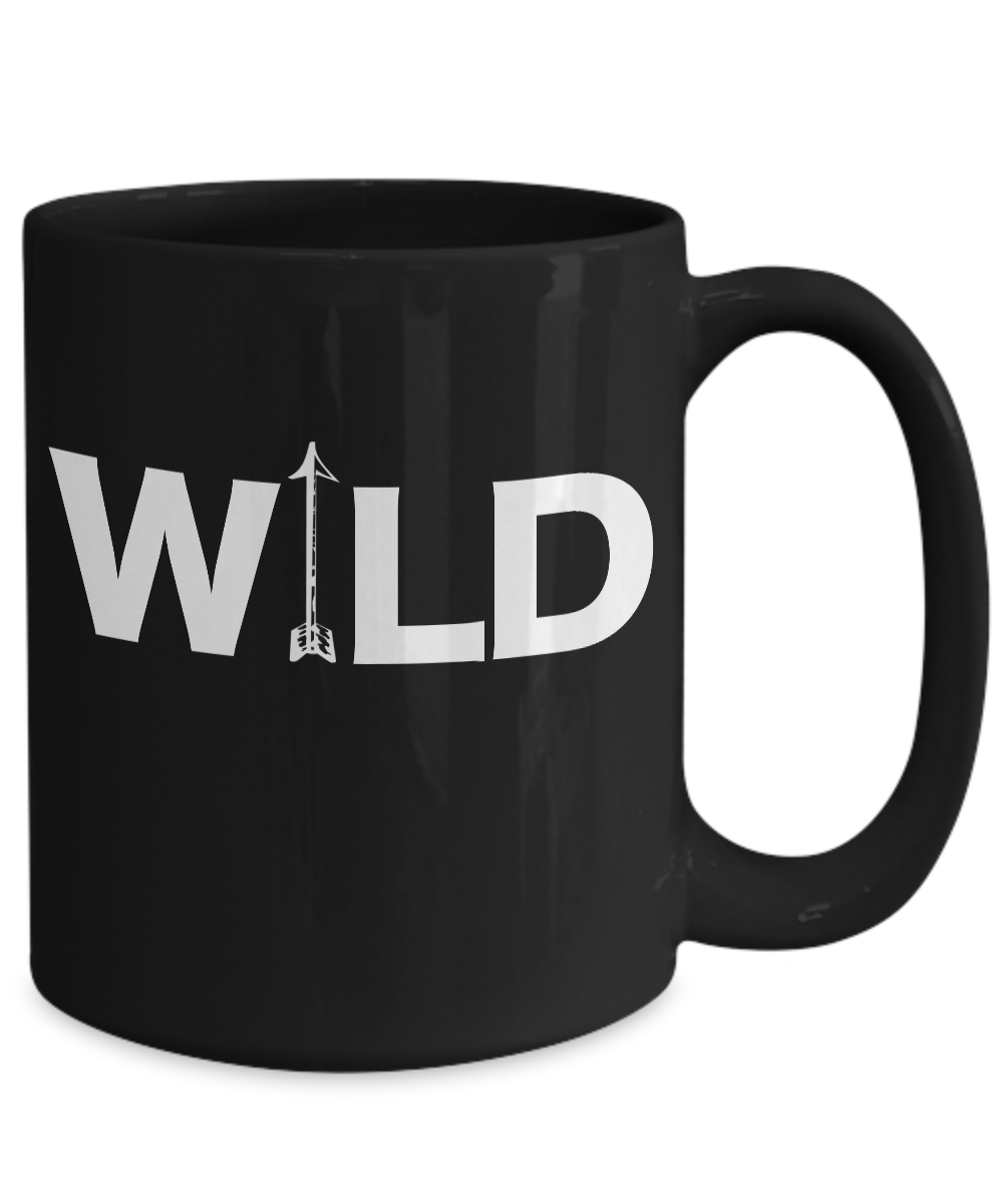 Archery-Mug-Black-Coffee-Cup-Funny-Gift-for-Wild-Long-Cross-Bow-Arrow-Hunting miniature 5