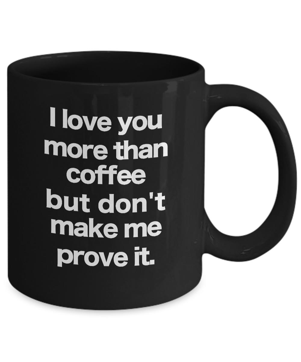 miniature 3 - Funny Coffee Cup Black Mug Gift for Mom Dad Birthday Anniversary Wedding Shower