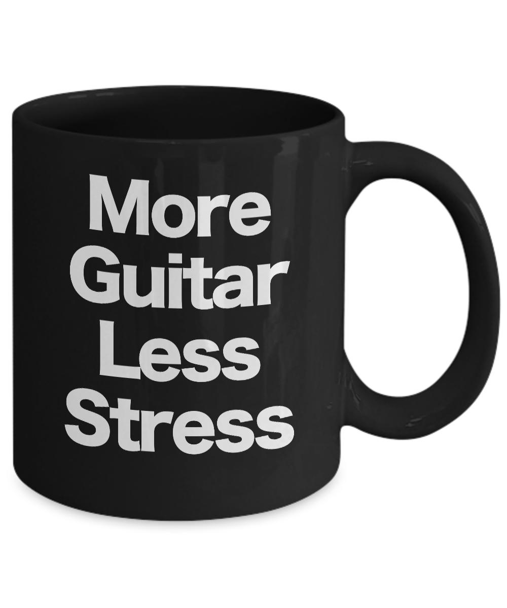 miniature 3 - Guitar Mug Black Coffee Cup Funny Gift Musician Rock Star Band Performer Live
