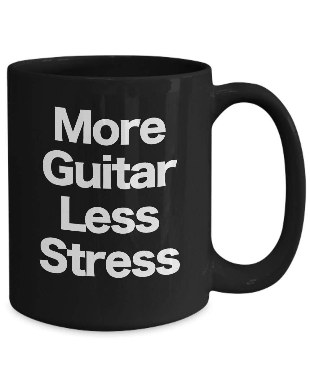 miniature 5 - Guitar Mug Black Coffee Cup Funny Gift Musician Rock Star Band Performer Live