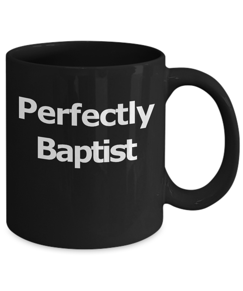 Baptist-Mug-Black-Coffee-Cup-Funny-Gift-for-Pastor-Elder-Worship-Church-Leader miniature 3