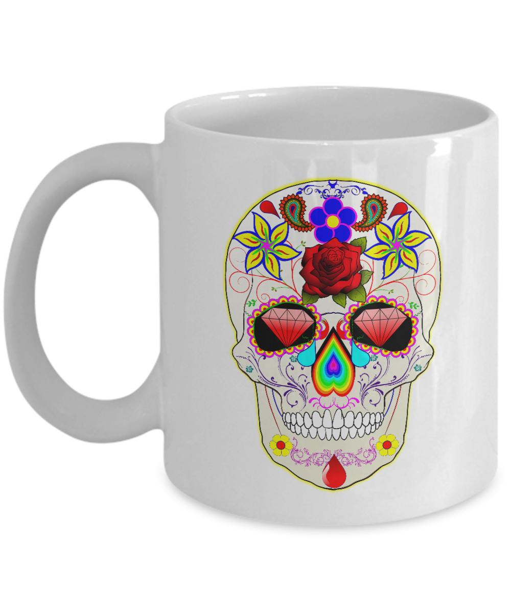 Cool Sugar Skull Day Of The Dead Coffee Mug Tea Cup