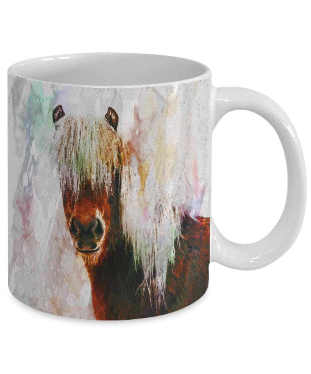 Horse watercolor art ceramic gift coffee mug coffee cup for Coffee watercolor