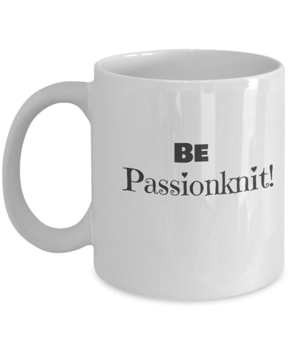 Passion for knitting coffee mug for Passion coffee