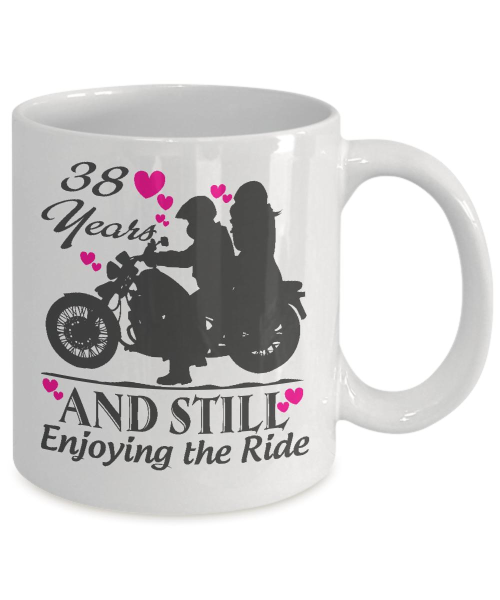 38 Year Wedding Anniversary Gift: 38 Years Wedding Anniversary Mugs Gift