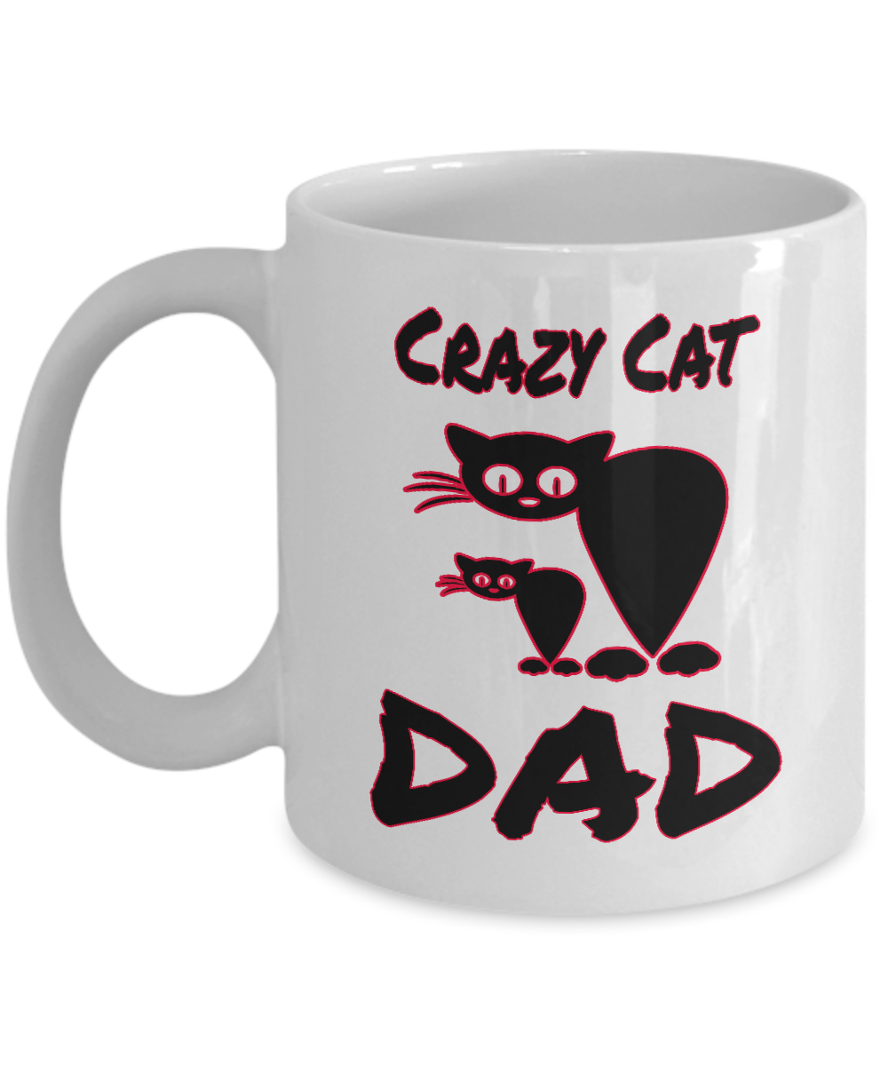 Best Cat DAD Ever Funny Gifts Lovers Memes Gift Coffee