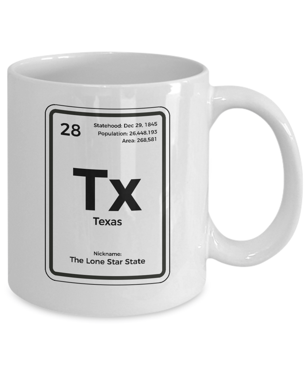 Texas Periodic Table Coffee Mug Lone Star State Gift Ebay
