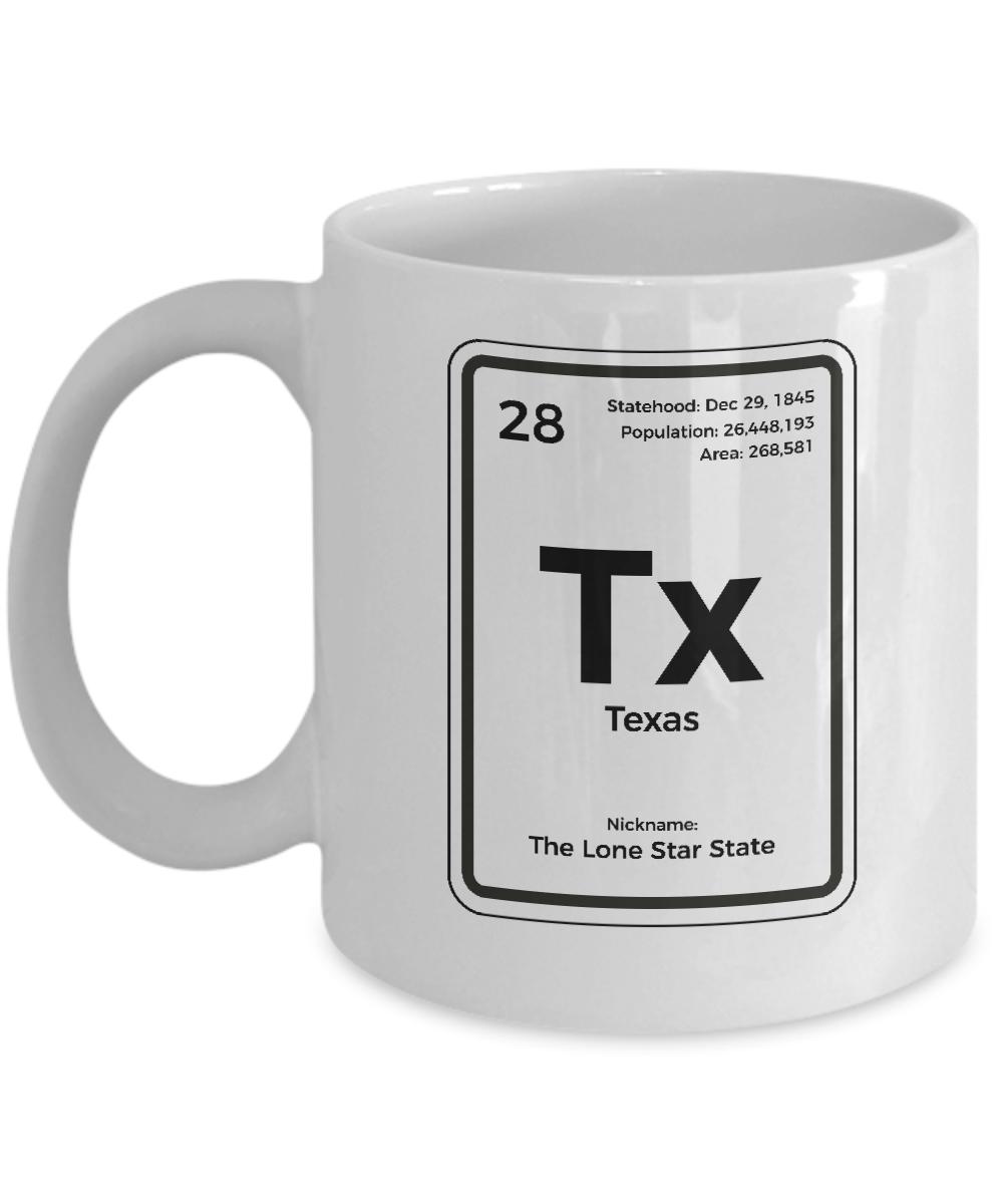 Texas Periodic Table Coffee Mug Lone Star State Gift Ebay