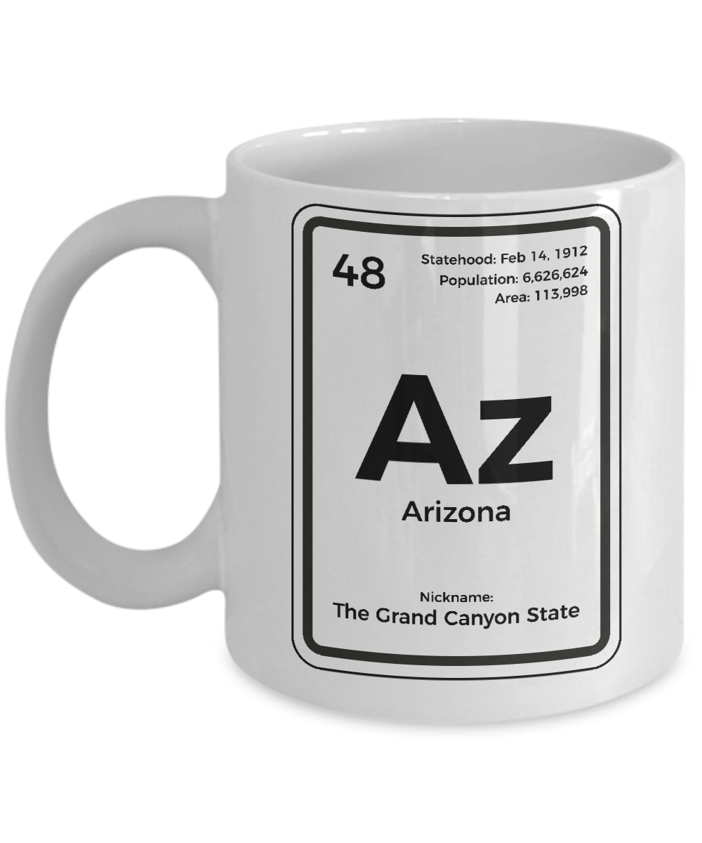 Arizona Periodic Table Coffee Mug Grand Canyon State Gift Ebay