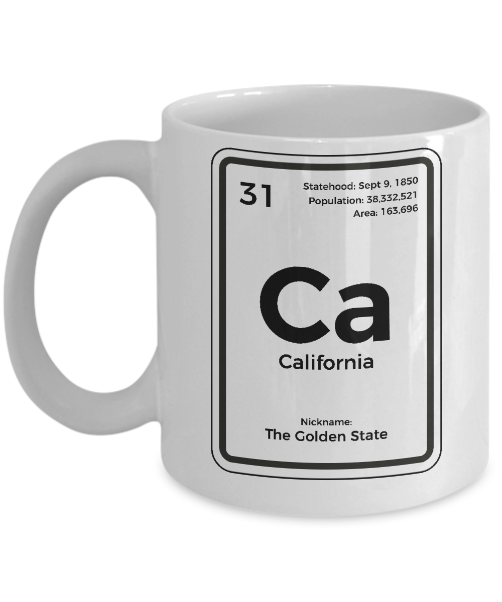 california periodic table coffee mug golden state gift - Periodic Table Mug Australia