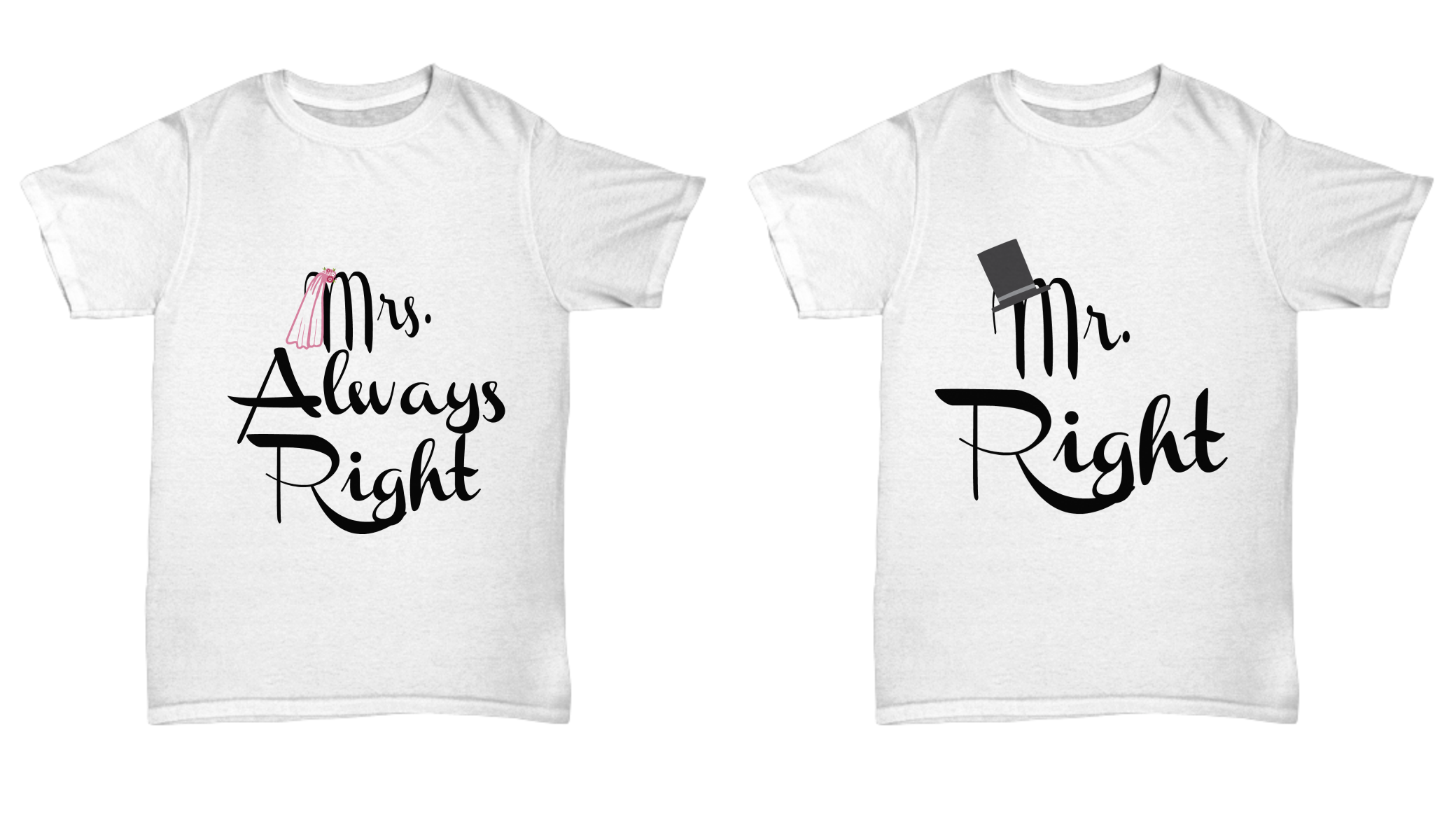 Funny Wedding Gifts.Funny Wedding Gifts Mr Right And Mrs Always Right Tees