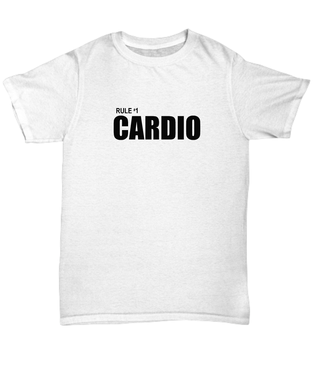 Zombieland Rule 1 Cardio Funny Gift Shirt Number One Zombie