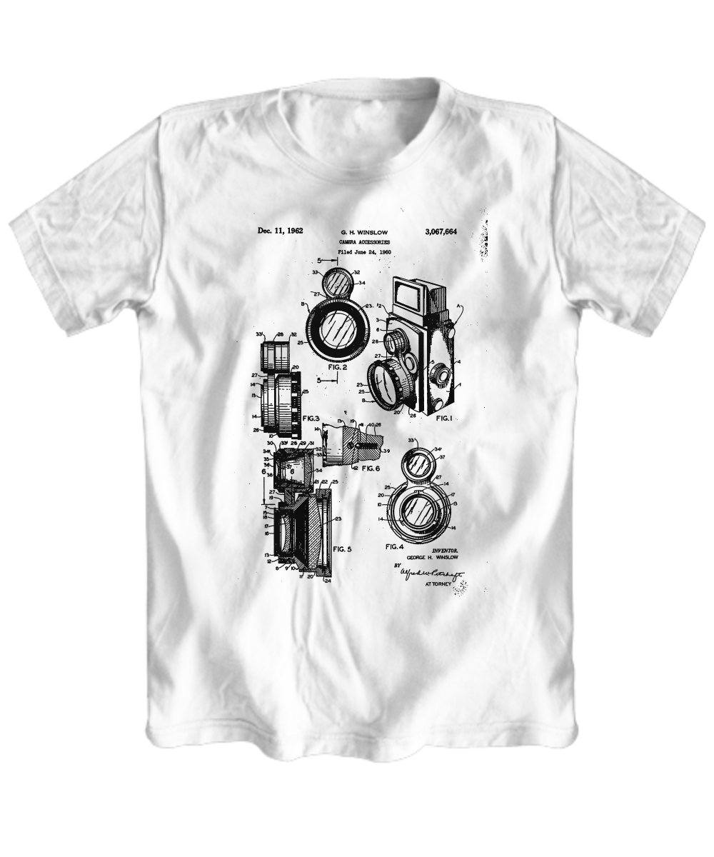 Camera blueprint t shirt front malvernweather Gallery