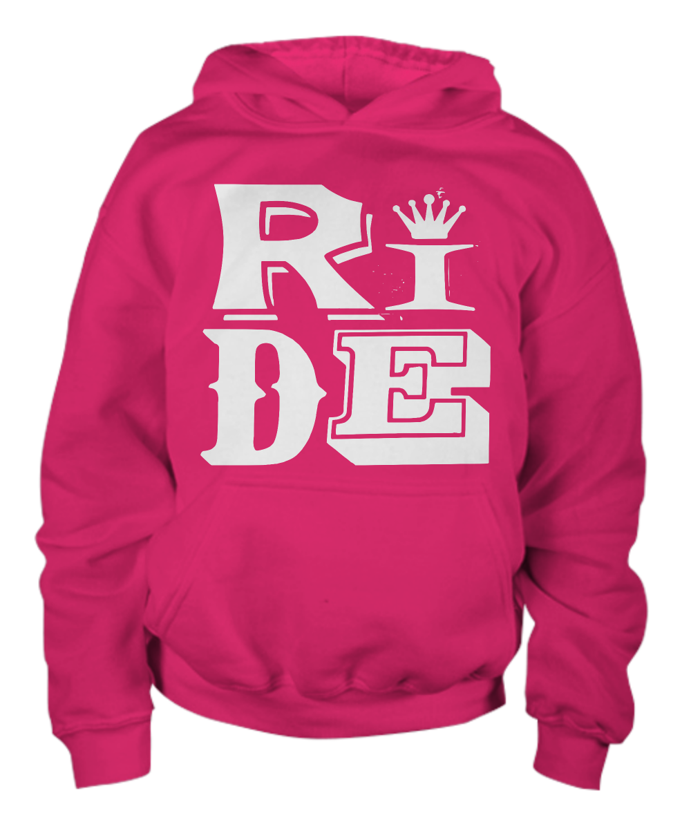 Youth Ride Hoodie, Horse Gift, Equestrian Clothing, Riding Gift, Kid horse birthday party, Riding Gifts, Horse Riding, Riding Kids Clothing: Gearbubble ...