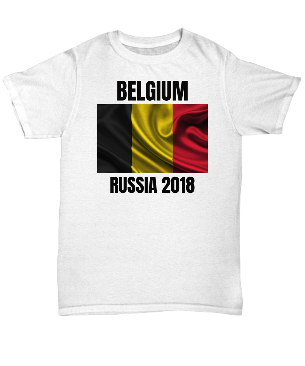 d104b43ac12 BELGIUM Team Russia World Cup 2018 T-Shirts. Front