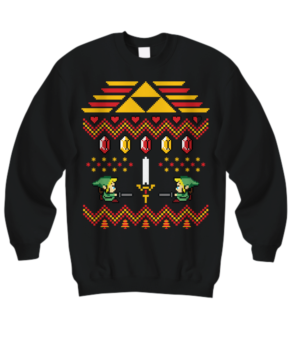 legend of zelda christmas sweater front - Legend Of Zelda Christmas Sweater