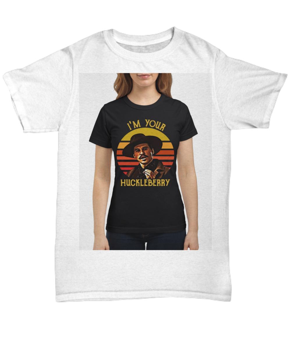 f6fd0c9fef7 Tombstone John Henry Doc Holliday I m your Huckleberry retro shirt