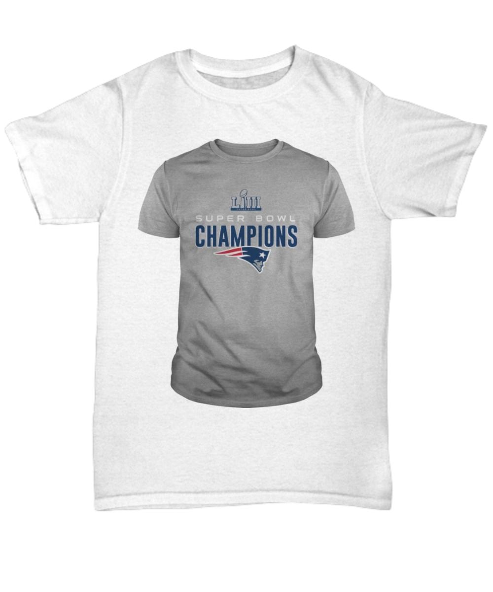 NFL New England Patriots Super Bowl LIII Championship Pet Tee Shirt. Front df4cf8da5