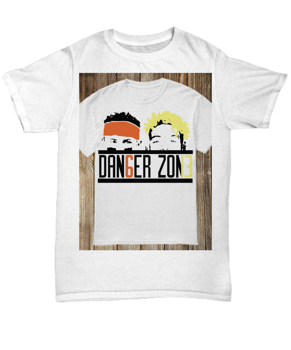 3399b0170ea Danger Zone Dan6er Zon13 Baker Mayfield Odell Beckham Jr shirt. Front