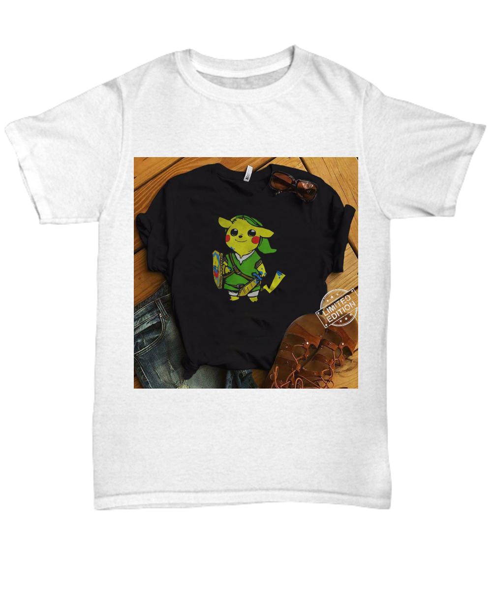 15484d201 Pikachu Link The Legend of Zelda shirt. Front