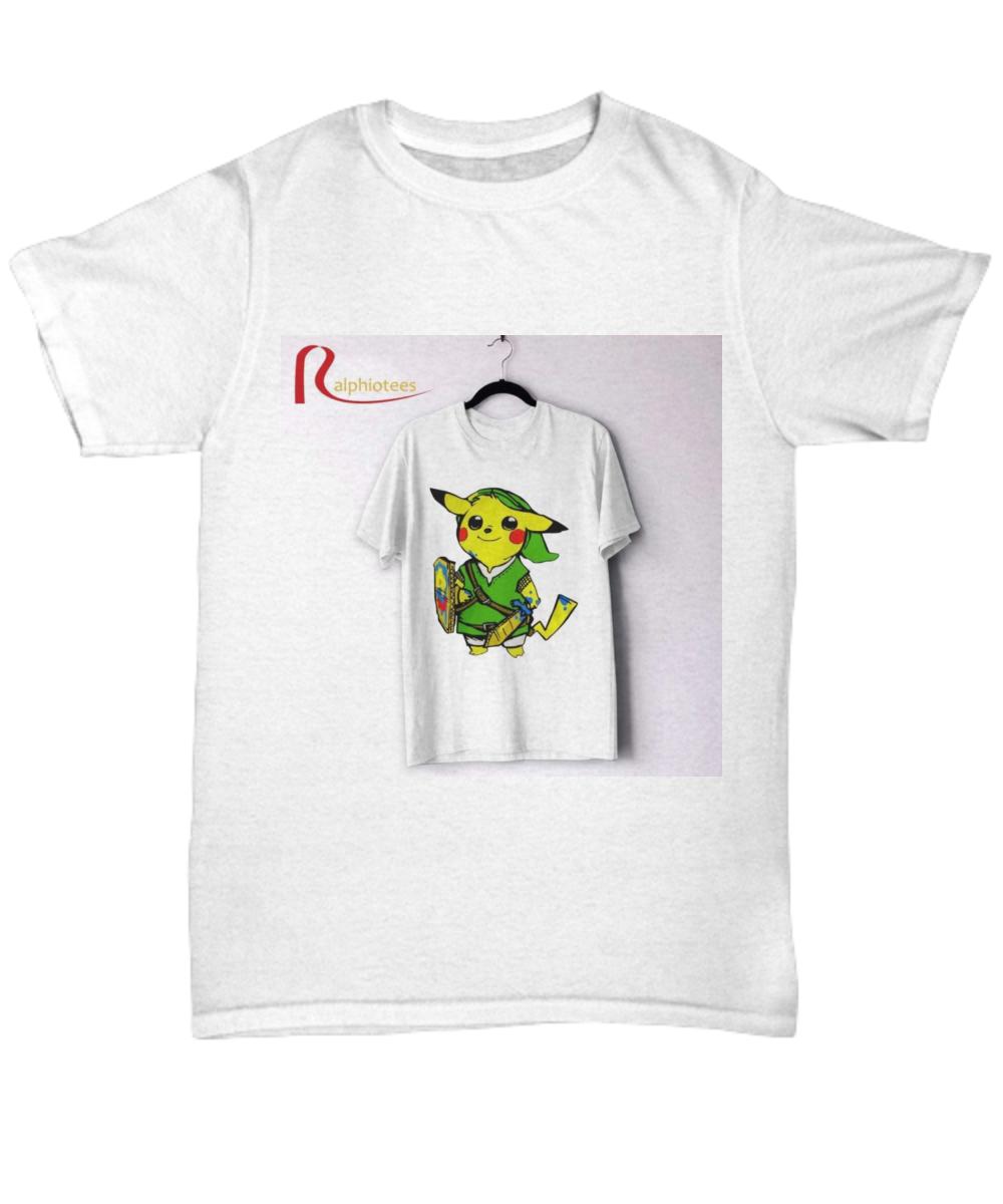 f8eb72826 Pikachu link legend of zelda parody shirt. Front