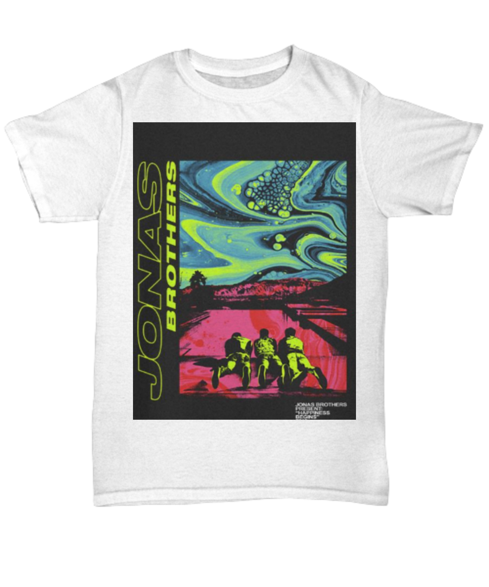 ca1030a8b Jonas Brothers present happiness being 2019 shirt. Front
