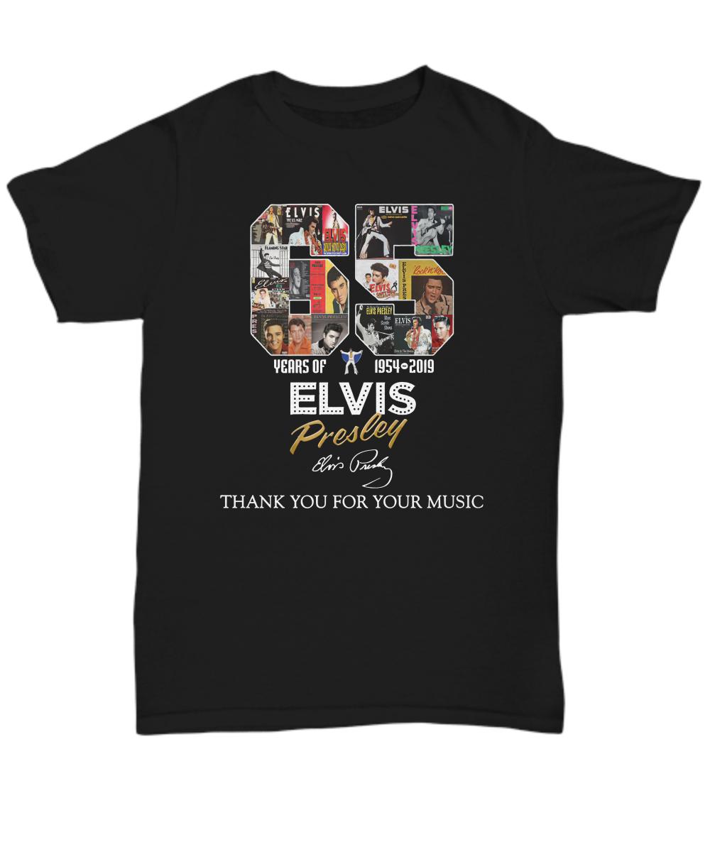 65 Years Of Elvis Presley 1954 2019 Signature shirt