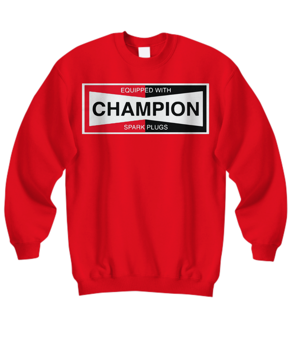 Equipped with champion spark plugs New T-Shirt