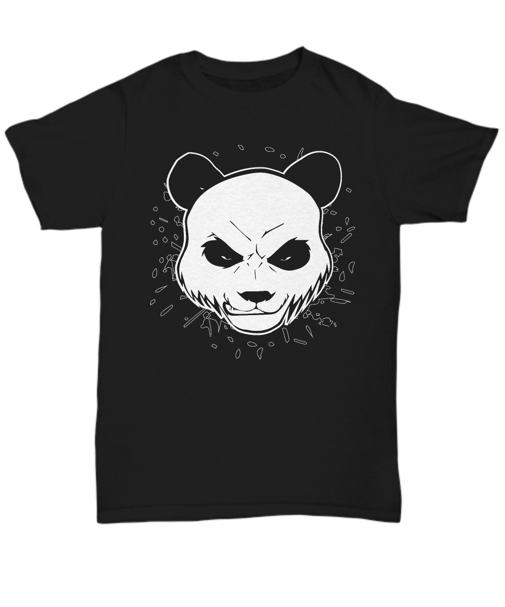 angry panda bear t shirt. Black Bedroom Furniture Sets. Home Design Ideas