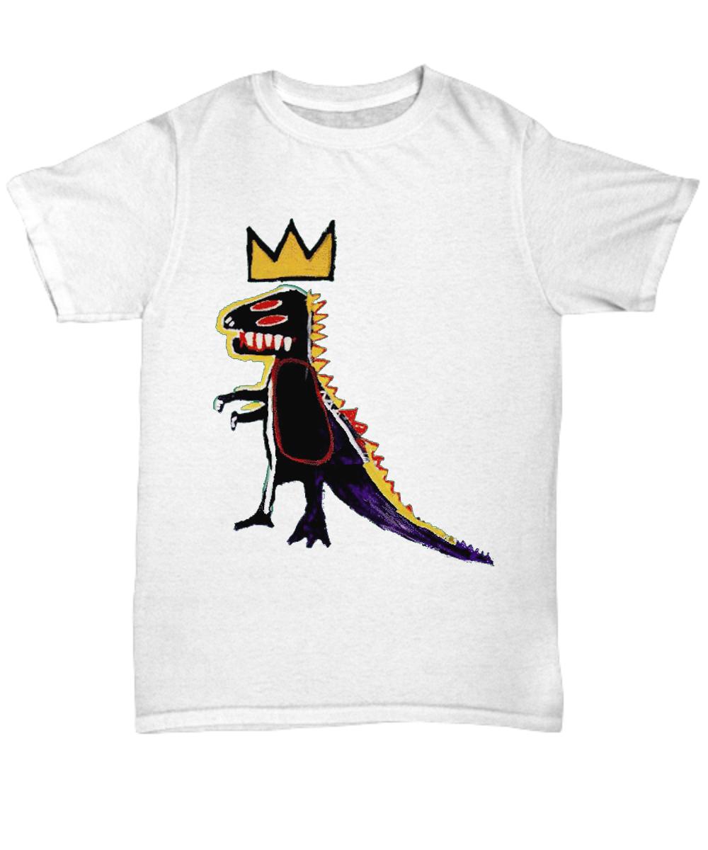 [Jean Michel]Basquiat Dinosaur Crown T-Shirt Hoodie Sweatshirt  [Jean Michel]Ba...