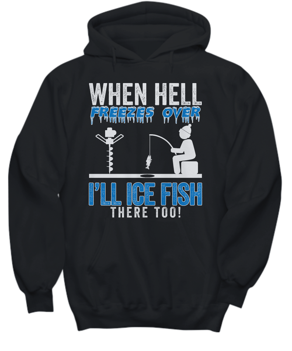 ice fishing hooded sweatshirt