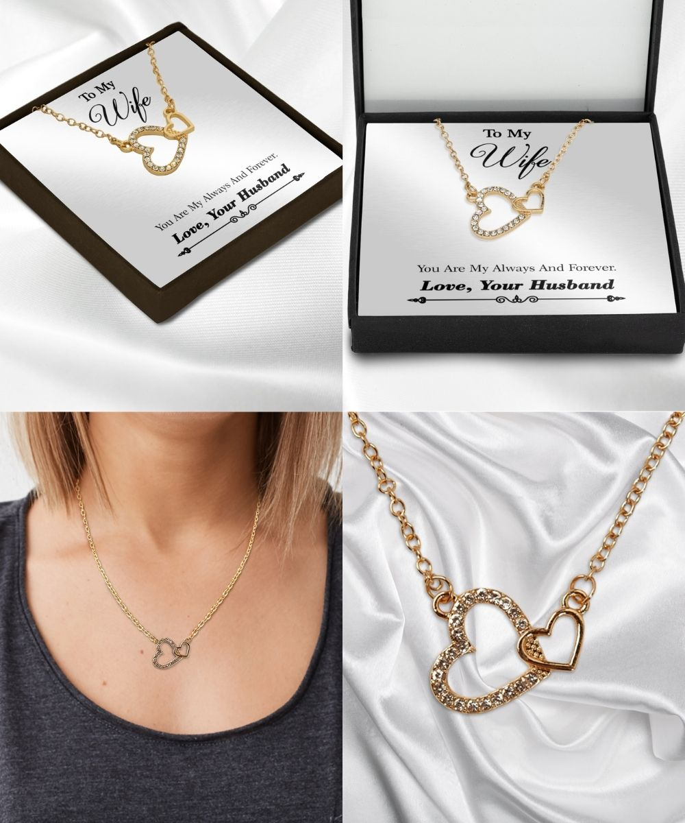 To%20my%20wife%20you%20are%20my%20always%20and%20forever%20necklace%20gold