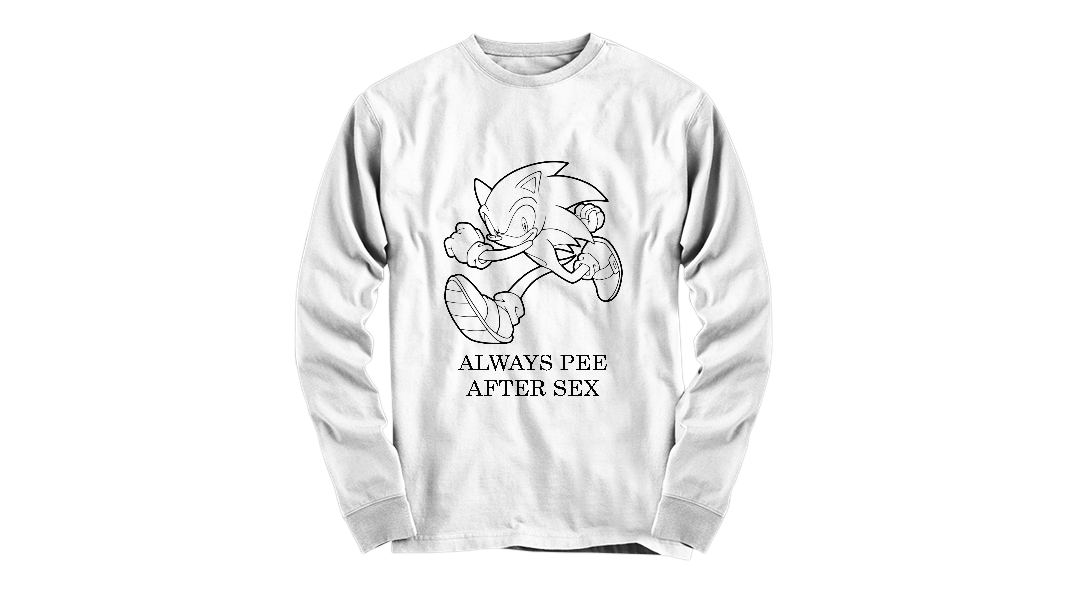 always pee after sex sonic shirt