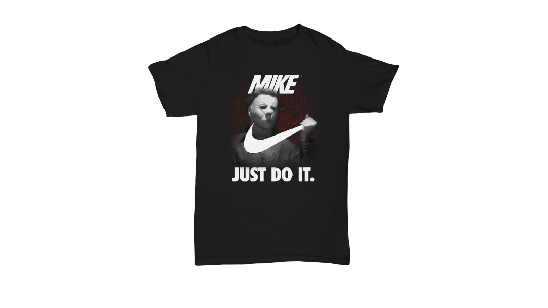 6f4009f5fd7020 Mike Nike Just Do It Michael Myers Halloween Shirt