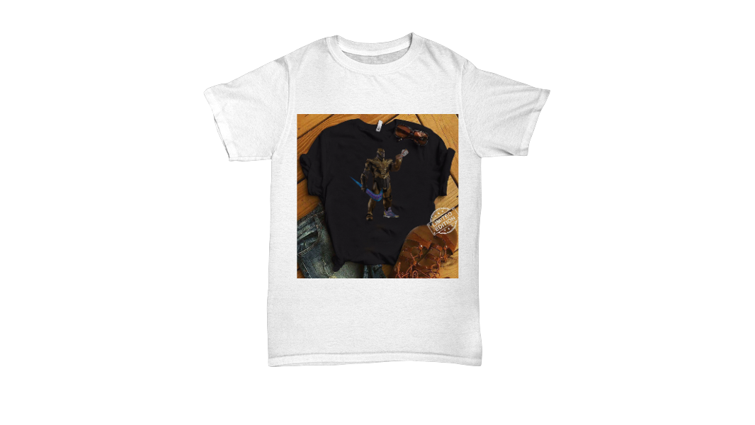a4d572498 Funny Thanos With Swoosh As Weapon and Hand on Shoe shirt