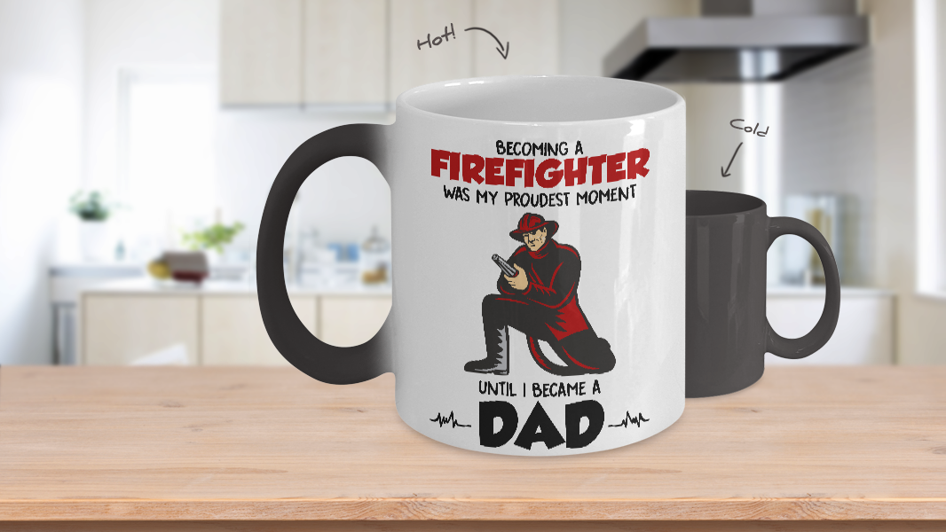 Ceramic Mugs, 11-15 oz Father Day Proud Of Firefighter Gifts
